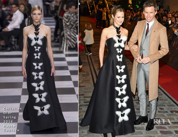 Hannah Redmayne In Christian Dior Haute Couture - 'Fantastic Beasts: The Crimes Of Grindelwald' World Premiere