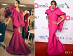 Iman In Zac Posen - Elton John AIDS Foundation's 17th Annual An Enduring Vision Benefit