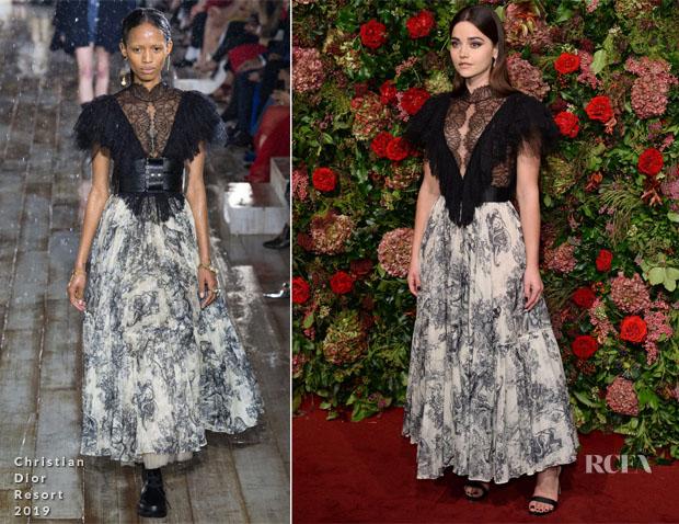 Jenna Coleman In Christian Dior - Evening Standard Theatre Awards