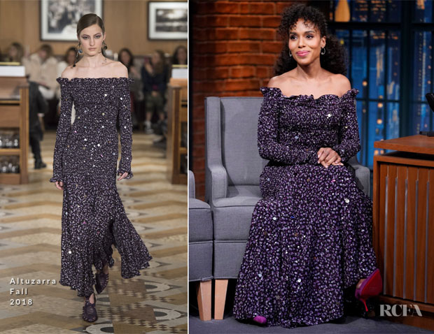 Kerry Washington In Altuzarra - Late Night With Seth Meyers