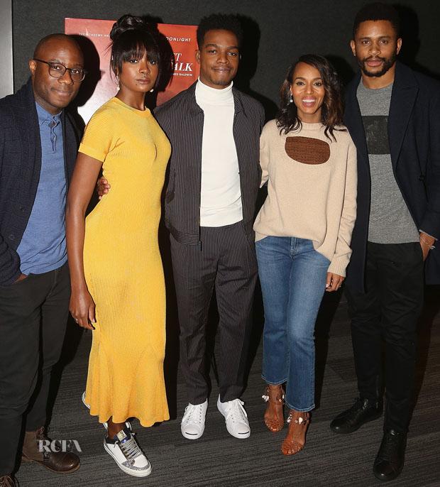 Kiki Layne In Brandon Maxwell - 'If Beale Street Could Talk' New York Screening