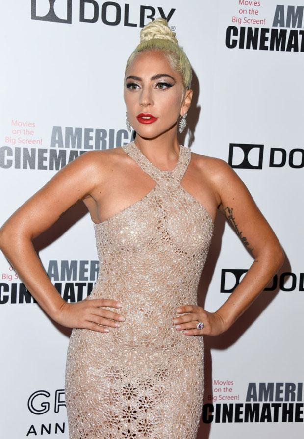 Lady Gaga In Azzedine Alaïa - 32nd American Cinematheque Award Presentation Honoring Bradley Cooper