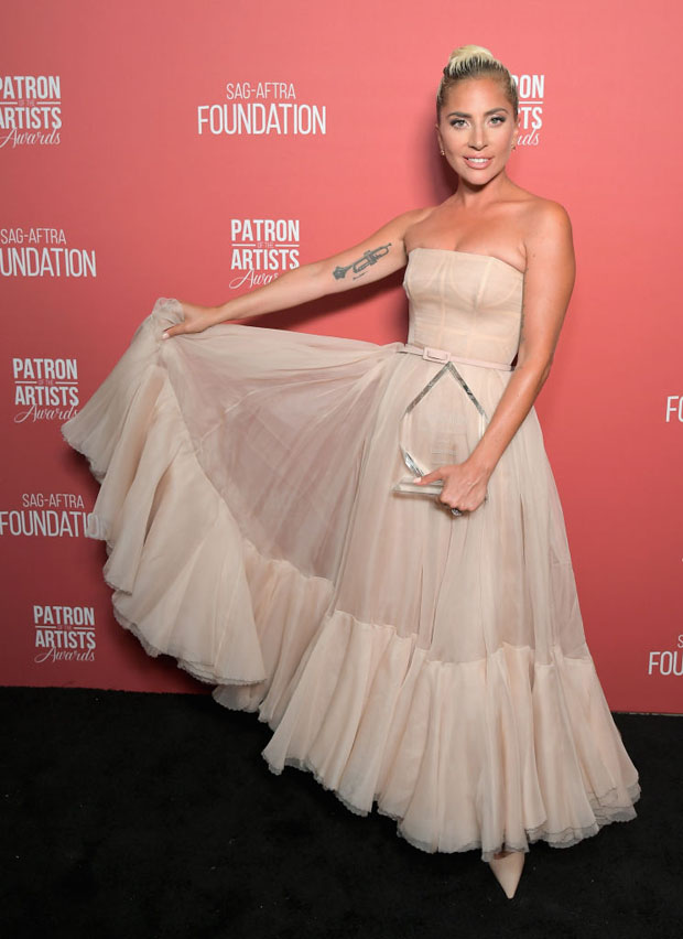 Lady Gaga In Christian Dior Haute Couture - SAG-AFTRA Foundation's 3rd Annual Patron of the Artists Awards