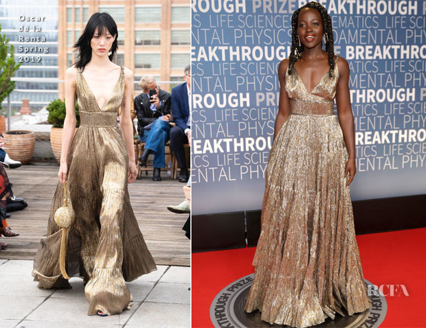Lupita Nyong'o In Oscar de la Renta - 2019 Breakthrough Prize Ceremony