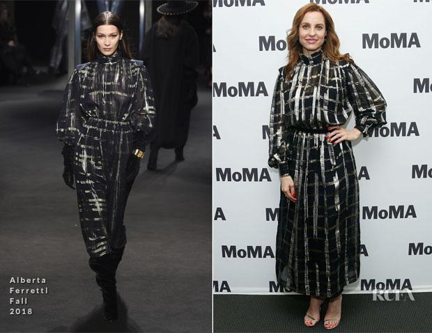 Marina de Tavira In Alberta Ferretti - MoMA's Contenders Screening Of 'Roma'