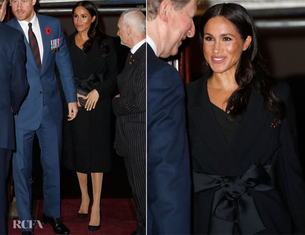 Meghan, Duchess of Sussex In Stella McCartney & Givenchy - Remembrance Festival & Remembrance Sunday