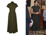 Meghan, Duchess of Sussex's Brandon Maxwell Pleated Poplin Shirt Dress