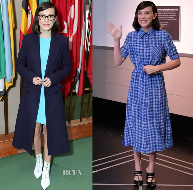 Millie Bobby Brown In Emilia Wickstead & Altuzarra - UNICEF's World Children's Day