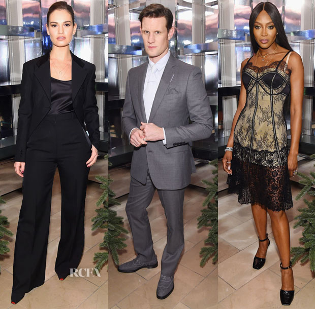 Naomi Campbell And Matt Smith Celebrate 'Close Your Eyes And Think Of Christmas' In New York