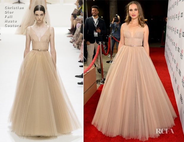 Natalie Portman In Christian Dior Haute Couture - 'Vox Lux' AFI FEST 2018 Special Screening