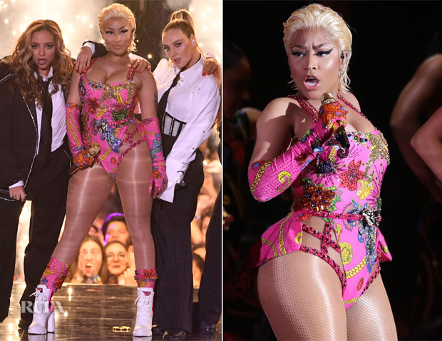 Nicki Minaj In Versace - 2018 MTV EMAs