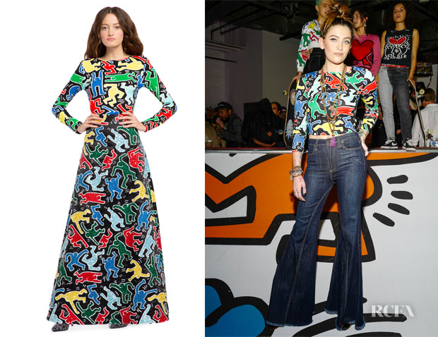 Paris Jackson's Keith Haring x Alice + Olivia The Delaina Top
