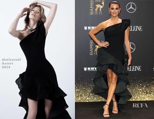 Penelope Cruz In Maticevski - 2018 Bambi Awards