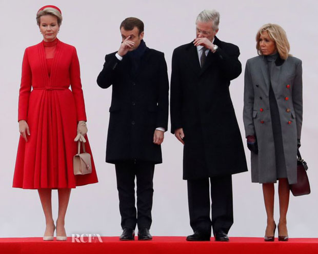 Queen Mathilde of Belgium In Christian Dior Haute Couture - French Head of State Visit