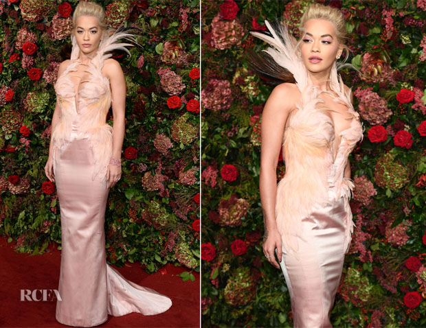 Rita Ora In Vintage Mugler Couture - 2018 Evening Standard Theatre Awards