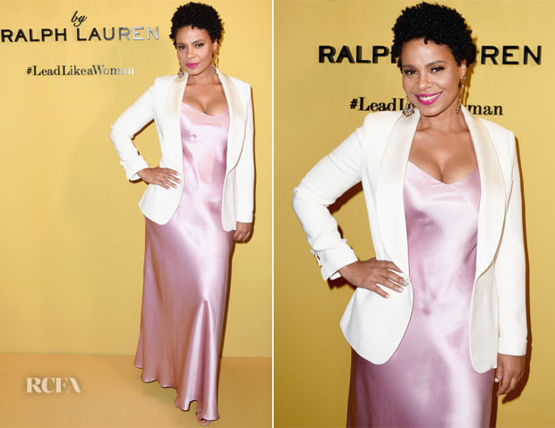 Sanaa Lathann In Ralph Lauren - Ralph Lauren Fragrances x Women In Film Sisterhood Of Leaders Event