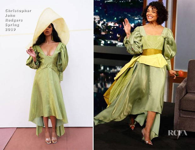 Tessa Thompson In Christopher John Rodgers - Jimmy Kimmel Live