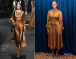 Tika Sumpter In Alberta Ferretti - 'Nobody's Fool' Press Conference