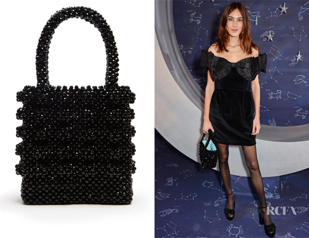Fashion Blogger Catherine Kallon feature the Alexa Chung's Shrimps Antonia Faux-Pearl Embellished Bag