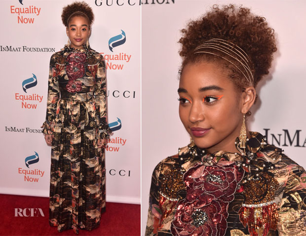 Fashion Blogger Catherine Kallon feature the Amandla Stenberg In Gucci - Equality Now's Make Equality Reality Gala 2018
