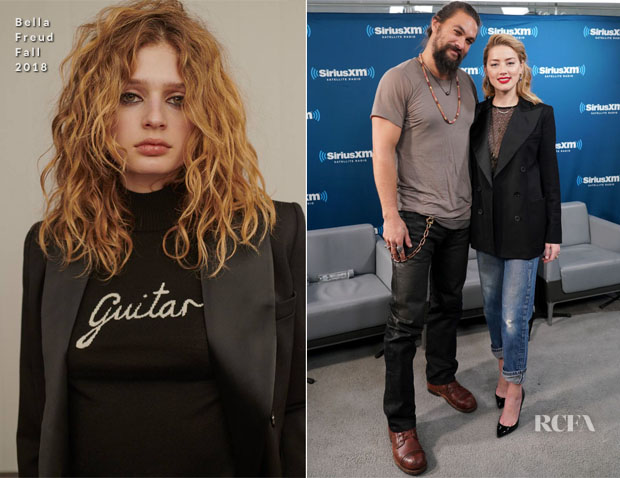 Fashion Blogger Catherine Kallon feature the Amber Heard In Bella Freud - SiriusXM's Town Hall With The Cast Of 'Aquaman'