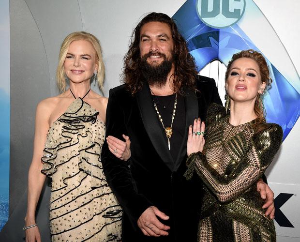 Fashion Blogger Catherine Kallon feature Amber Heard In Julien Macdonald - 'Aquaman' LA Premiere