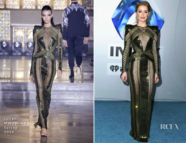 Fashion Blogger Catherine Kallon feature Amber Heard In Julien Macdonald - 'Aquaman' LA Premiere