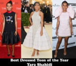 Best Dressed Teen Of The Year – Yara Shahidi