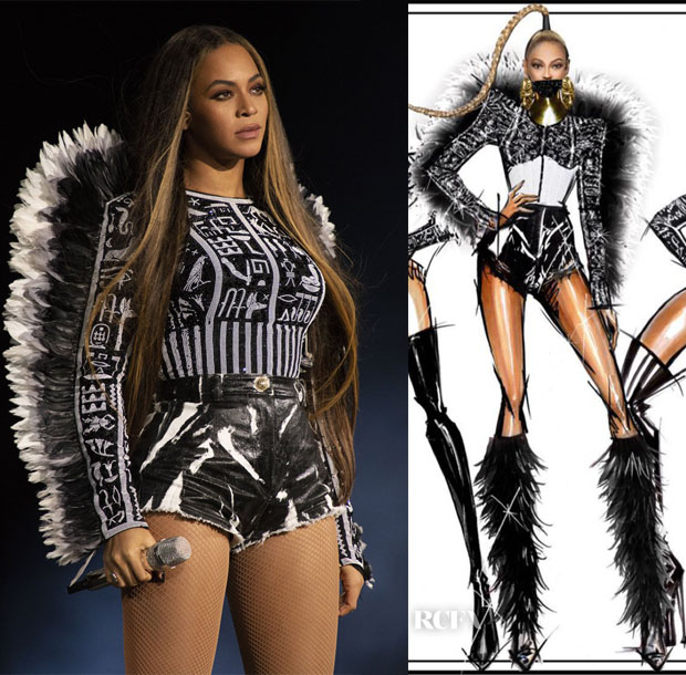 Beyonce Knowles In Atelier Versace, Mary Katrantzou, Balmain & Ashi Studio - Global Citizen Festival Mandela 100