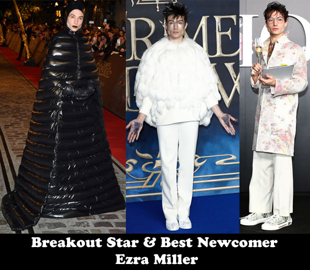 Breakout Star & Best Newcomer - Ezra Miller