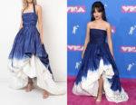 Camila Cabello's Oscar de la Renta Halterneck Dip Dye Gown