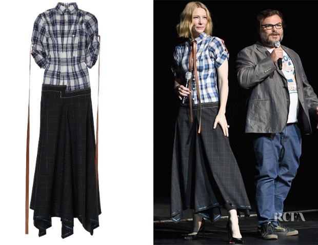 Fashion Blogger Catherine Kallon Cate Blanchett's Loewe Check Shirtdress