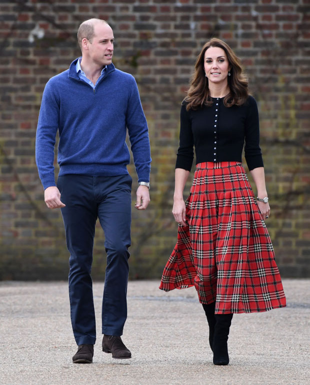 Fashion Blogger Catherine Kallon feature the Kate Middleton, Catherine, Duchess of Cambridge In Emilia Wickstead tartan skirt