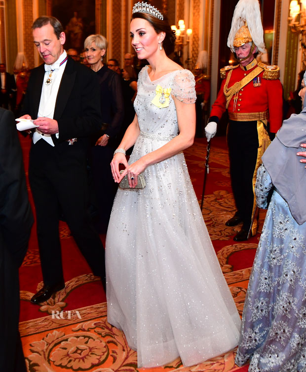 Fashion Blogger Catherine Kallon feature the Catherine, Duchess of Cambridge In Jenny Packham - Diplomatic Corps Reception