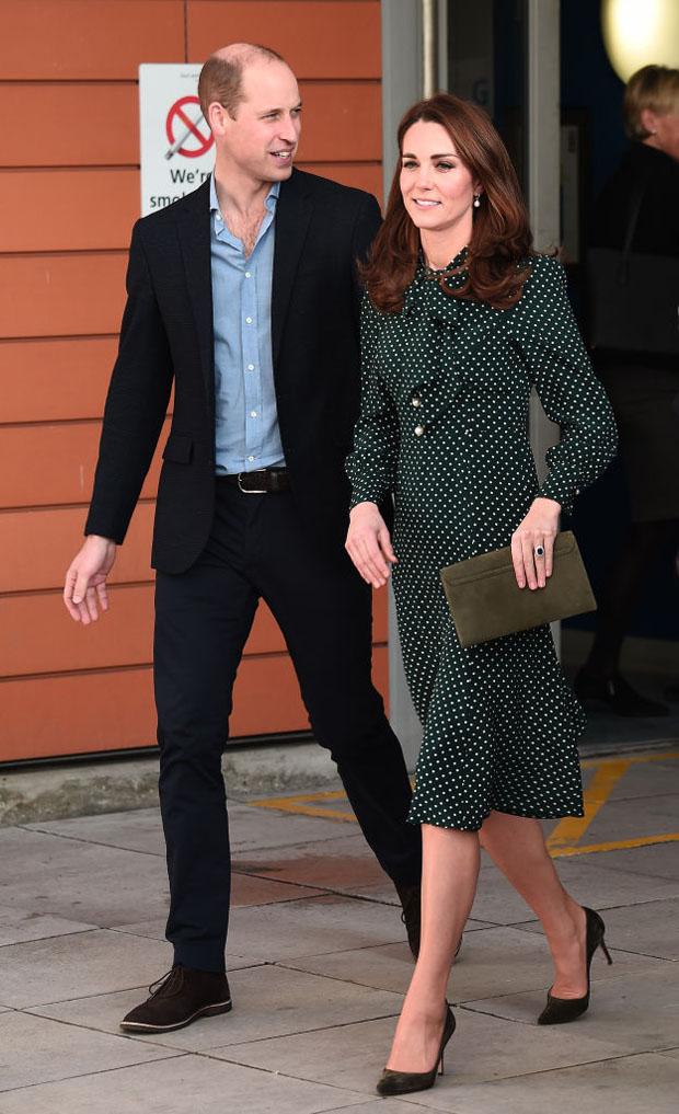 Fashion Blogger Catherine Kallon features Catherine, Duchess of Cambridge In L.K. Bennett - Evelina London Children's Hospital Visit