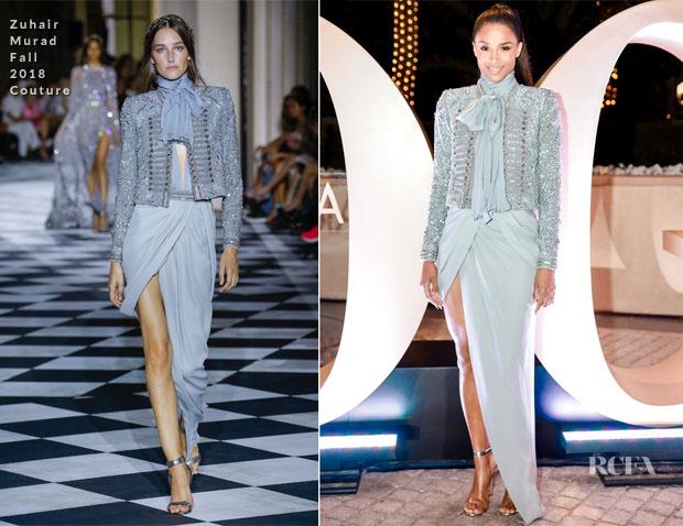 Fashion Blogger Catherine Kallon feature Ciara In Zuhair Murad Couture - Ball Of Arabia