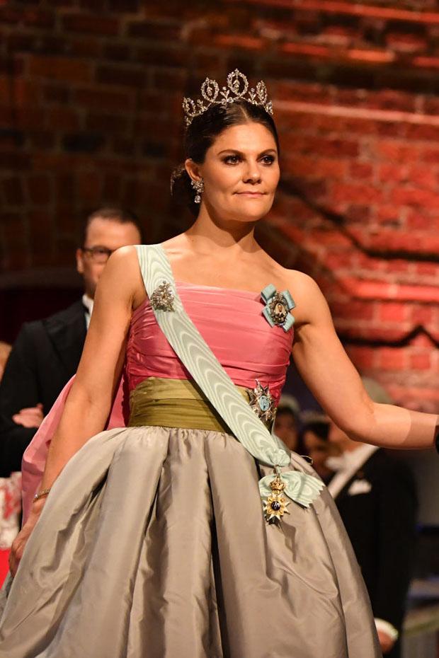 Fashion Blogger Catherine Kallon features Crown Princess Victoria of Sweden In Vintage Nina Ricci - 2018 Nobel Prize Banquet