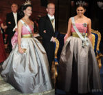 Fashion Blogger Catherine Kallon feature Crown Princess Victoria of Sweden In Vintage Nina Ricci - 2018 Nobel Prize Banquet