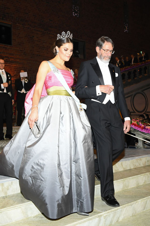 Fashion Blogger Catherine Kallon features Crown Princess Victoria of Sweden In Vintage Nina Ricci - 2018 Nobel Prize Banquet