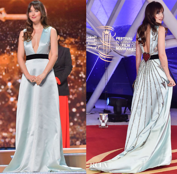 Fashion Blogger Catherine Kallon feature Dakota Johnson In Gucci - Marrakech International Film Festival Closing Ceremony