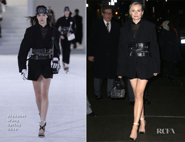Fashion Blogger Catherine Kallon Features Diane Kruger In Alexander Wang - The Late Show With Stephen Colbert