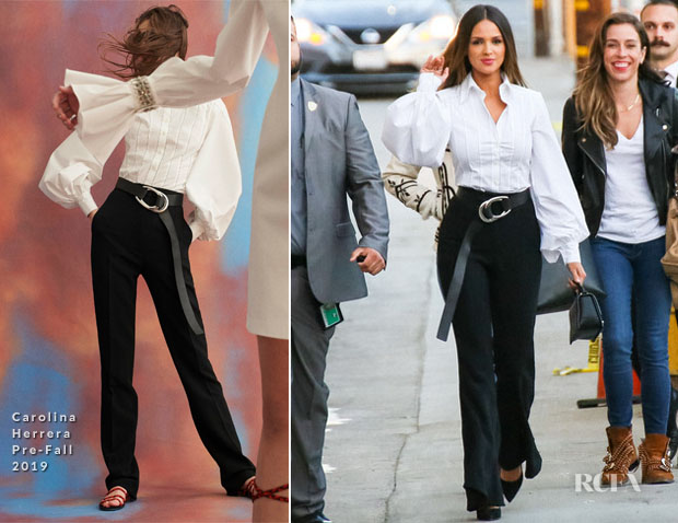 Fashion Blogger Catherine Kallon features Eiza González In Carolina Herrera - Jimmy Kimmel Live!