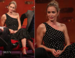 Fashion Blogger Catherine Kallon features Emily Blunt In Cinq à Sept - The Graham Norton Show