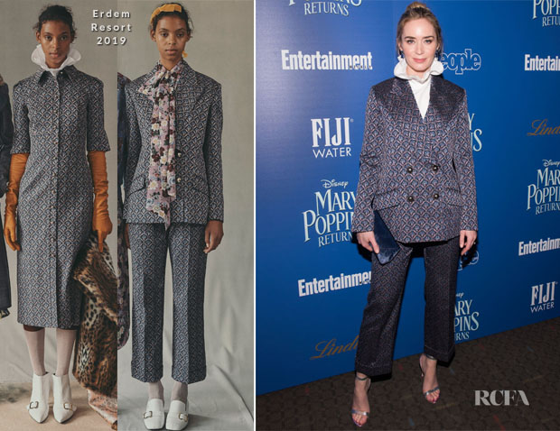 Fashion Blogger Catherine Kallon features Emily Blunt In Erdem - 'Mary Poppins Returns' New York Screening