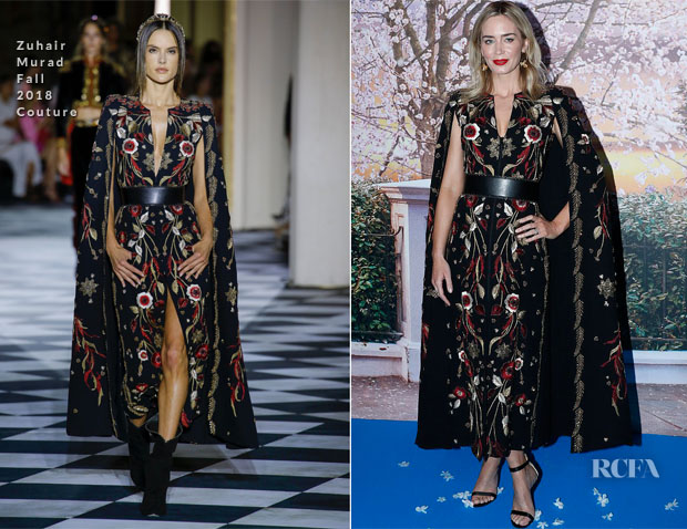 Fashion Blogger Catherine Kallon feature Emily Blunt In Zuhair Murad Couture - 'Mary Poppins Returns' Paris Premiere