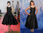 Fashion Blogger Catherine Kallon feature the Emily Mortimer In Huishan Zhang - 'Mary Poppins Returns' Canadian Screening