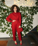 Fashion Blogger Catherine Kallon features Emmy Rossum In Victoria Beckham - Spotify Event