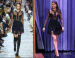 Fashion Blogger Catherine Kallon feature Hailee Steinfeld In Elie Saab - The Tonight Show Starring Jimmy Fallon