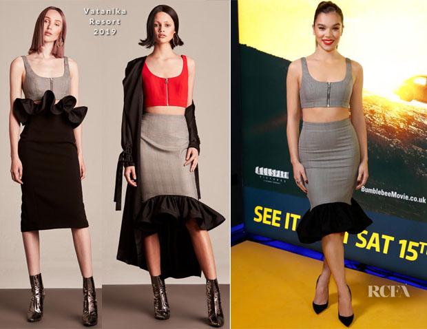 Fashion Blogger Catherine Kallon feature the Hailee Steinfeld In Vatanika - 'Bumblebee' London Screening