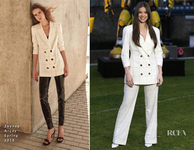 Fashion Blogger Catherine Kallon feature the Hailee Steinfeld In Zeynep Arçay 'Bumblebee' London Photocall